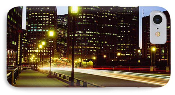 Traffic On A Bridge In A City, Northern IPhone Case by Panoramic Images