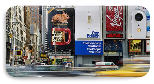 Traffic On A Street, Times Square IPhone Case