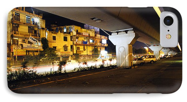 Traffic Running Beneath Flyover Phone Case by Sumit Mehndiratta