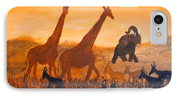 Traffick On Serengeti IPhone Case by Donna Dixon