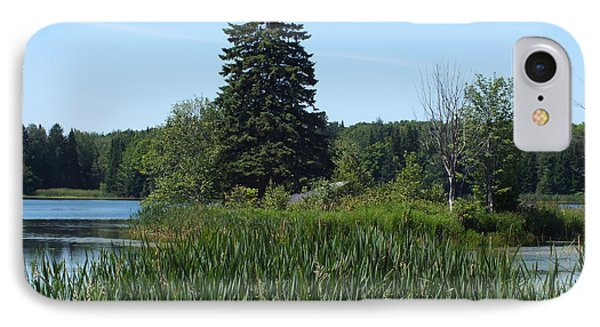 IPhone Case featuring the photograph Trafton Lake 1 by Gene Cyr