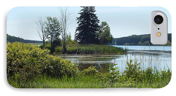 IPhone Case featuring the photograph Trafton Lake 2 by Gene Cyr