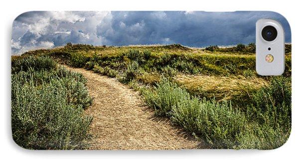 Trail In Badlands In Alberta Canada Phone Case by Elena Elisseeva