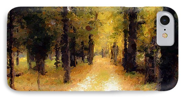 IPhone Case featuring the painting Trail In The Forest by Wayne Pascall