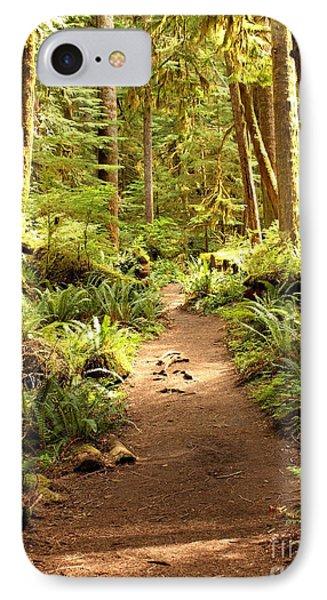 Trail Through The Rainforest Phone Case by Carol Groenen