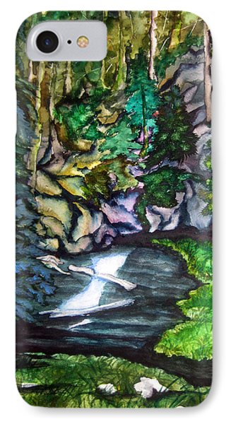 IPhone Case featuring the painting Trail To Broke-off by Lil Taylor