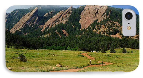 Trail To The Flatirons IPhone Case