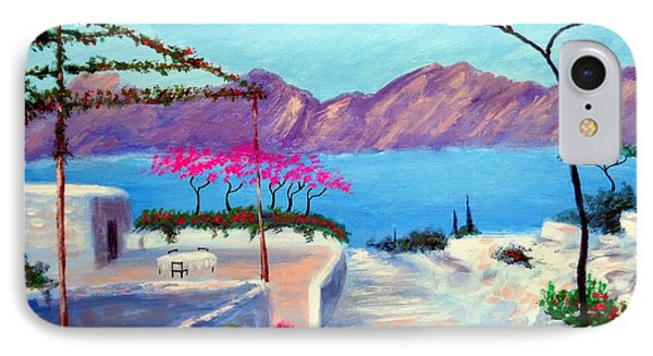 IPhone Case featuring the painting Trails Of Greece by Larry Cirigliano