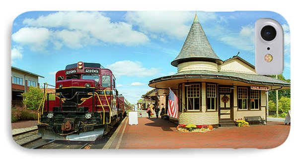 Train At Railway Station, New Hope IPhone Case
