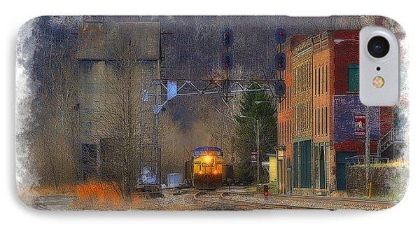Train At Thurmond Wv Phone Case by Dan Friend