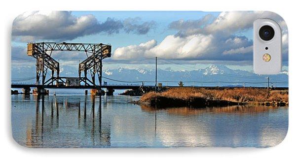 Train Bridge IPhone Case by Chris Anderson