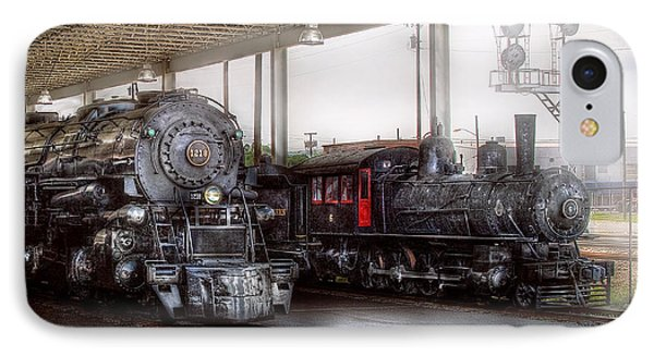 Train - Engine - 1218 - End Of The Line  IPhone Case by Mike Savad