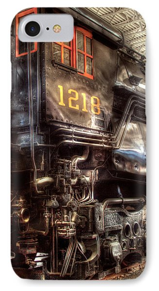 Train - Engine - 1218 - Norfolk Western - Class A - 1218 Phone Case by Mike Savad