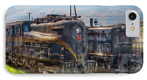 Train - Engine - 4919 - Pennsylvania Railroad Electric Locomotive  4919  Phone Case by Mike Savad