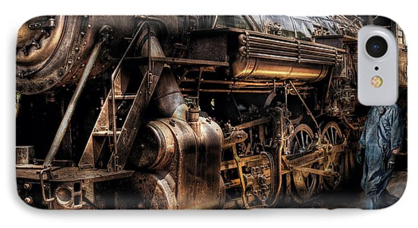 Train - Engine -  Now Boarding Phone Case by Mike Savad