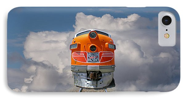 Train In Clouds Phone Case by Ron Sanford