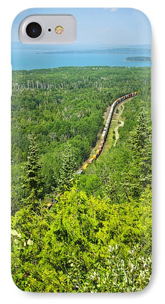 Train In Northern Ontario IPhone Case by Elena Elisseeva