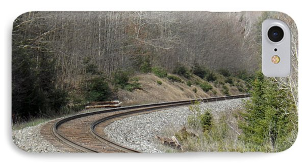 Train It Coming Around The Bend IPhone Case by Brenda Brown