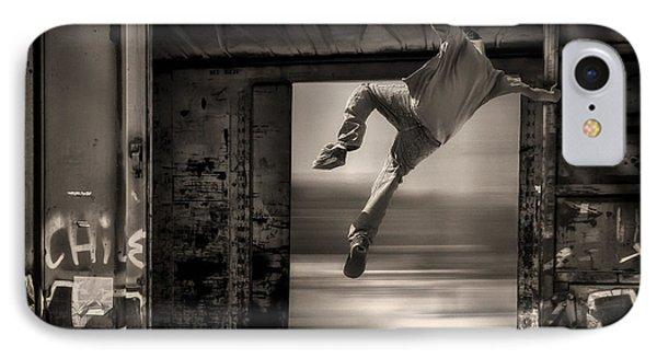 Train Jumping Phone Case by Bob Orsillo