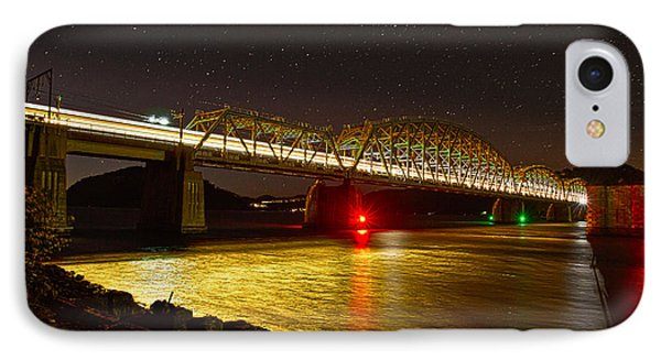 Train Lights In The Night IPhone Case by Miroslava Jurcik