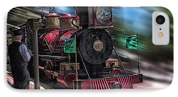 Train Ride Magic Kingdom IPhone Case by Thomas Woolworth