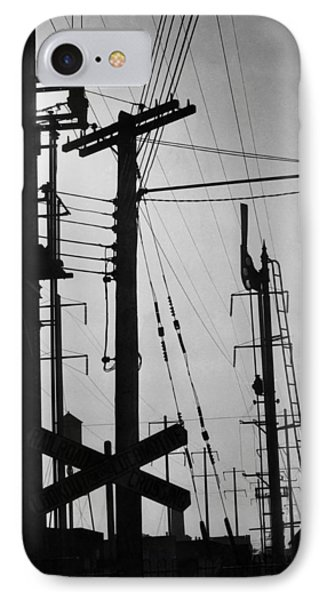 Train Signals IPhone Case by Underwood Archives