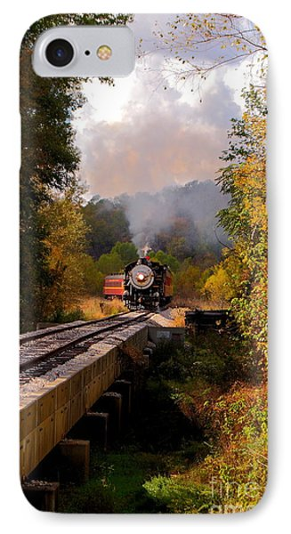Train Through The Valley Phone Case by Robert Frederick