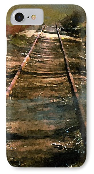 Train Track To Hell IPhone Case by RC deWinter