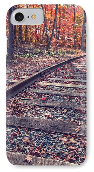 Train Tracks Phone Case by Edward Fielding