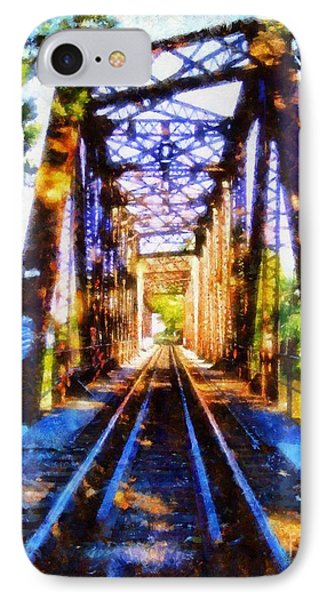 Train Trestle Bridge 2 IPhone Case by Janine Riley