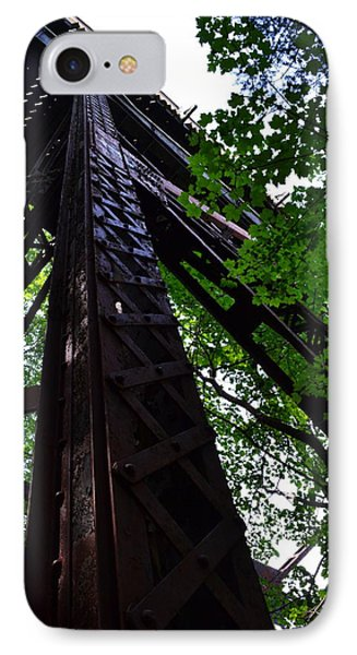 Train Trestle In The Woods Phone Case by Michelle Calkins