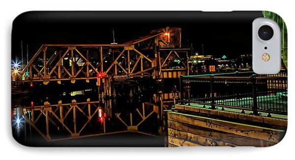 Train Trestle Viewed From Paul Revere Park  IPhone Case by John Hoey