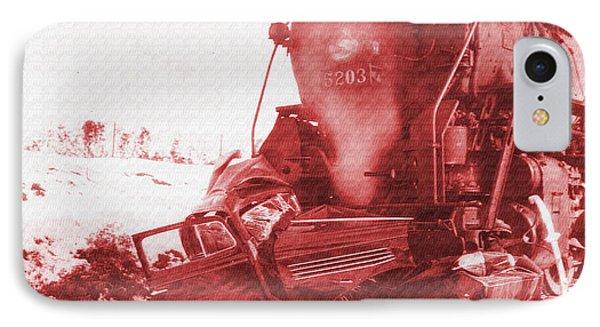 Train V Car IPhone Case by R Muirhead Art