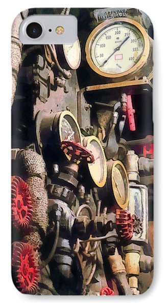 Trains - Inside Cab Of Steam Locomotive Phone Case by Susan Savad