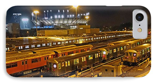 Trains Nyc IPhone Case by Jeffrey Friedkin