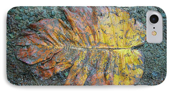 IPhone Case featuring the photograph Trampled Leaf by Britt Runyon