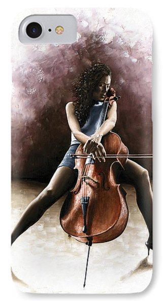 Tranquil Cellist IPhone Case by Richard Young