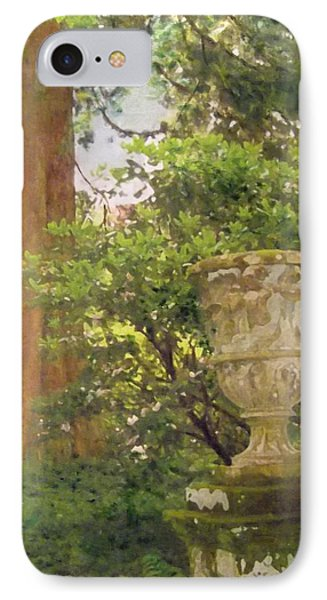 IPhone Case featuring the painting Tranquil Corner In Dawyck Botanic Garden by Richard James Digance