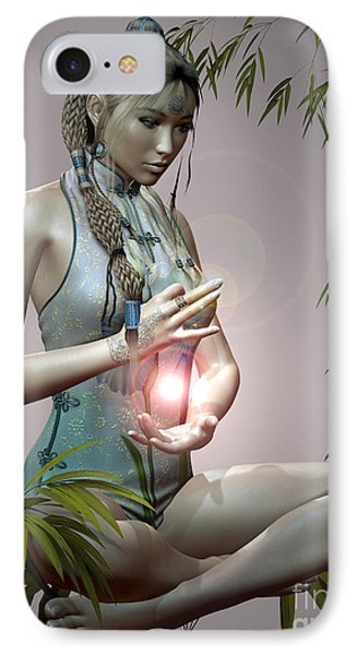 IPhone Case featuring the digital art Tranquil Emotions by Shadowlea Is