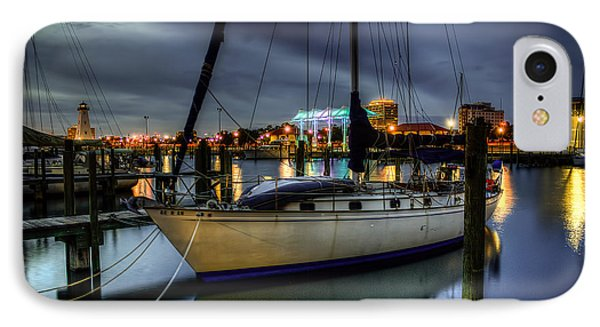 IPhone Case featuring the photograph Tranquil Harbour Evening by Maddalena McDonald
