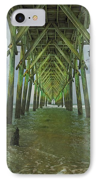 Tranquil Topsail Surf City Pier IPhone Case