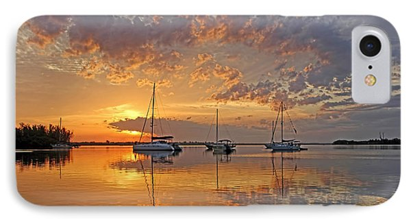 Tranquility Bay - Florida Sunrise IPhone Case by HH Photography of Florida
