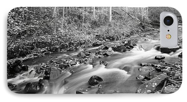 Tranquility - Black And White IPhone Case by Harold Rau