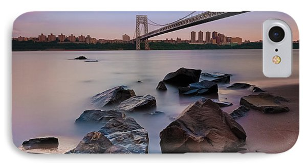 Tranquility By The George Washington Bridge IPhone Case by Poliana DeVane