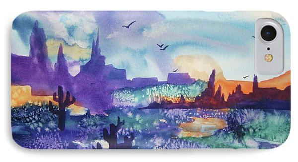 IPhone Case featuring the painting Tranquility II by Ellen Levinson