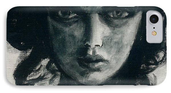 IPhone Case featuring the painting Portait Of Beatcee May by Jarmo Korhonen aka Jarko