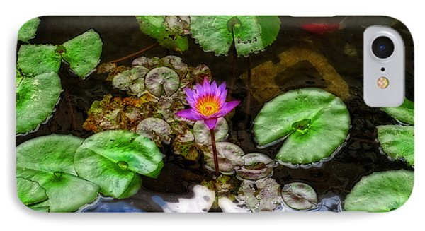 Tranquility - Lotus Flower Koi Pond By Sharon Cummings IPhone Case by Sharon Cummings