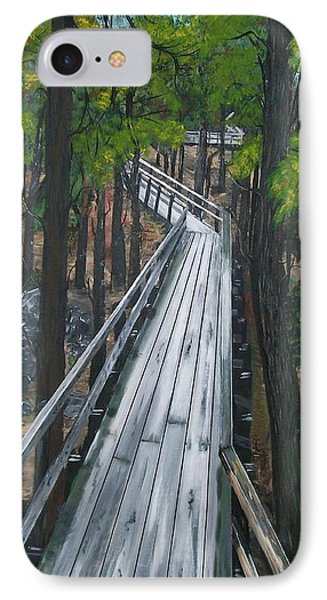 IPhone Case featuring the painting Tranquility Trail by Sharon Duguay