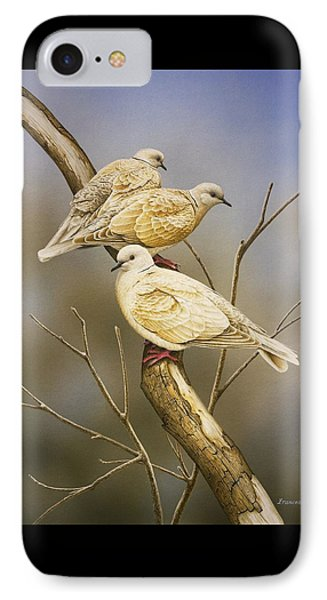 Tranquillity - Ring-necked Doves IPhone Case by Frances McMahon