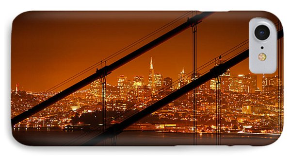 Transamerica Pyramid Seen At Night IPhone Case by Celso Diniz